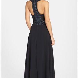 Long formal black dress